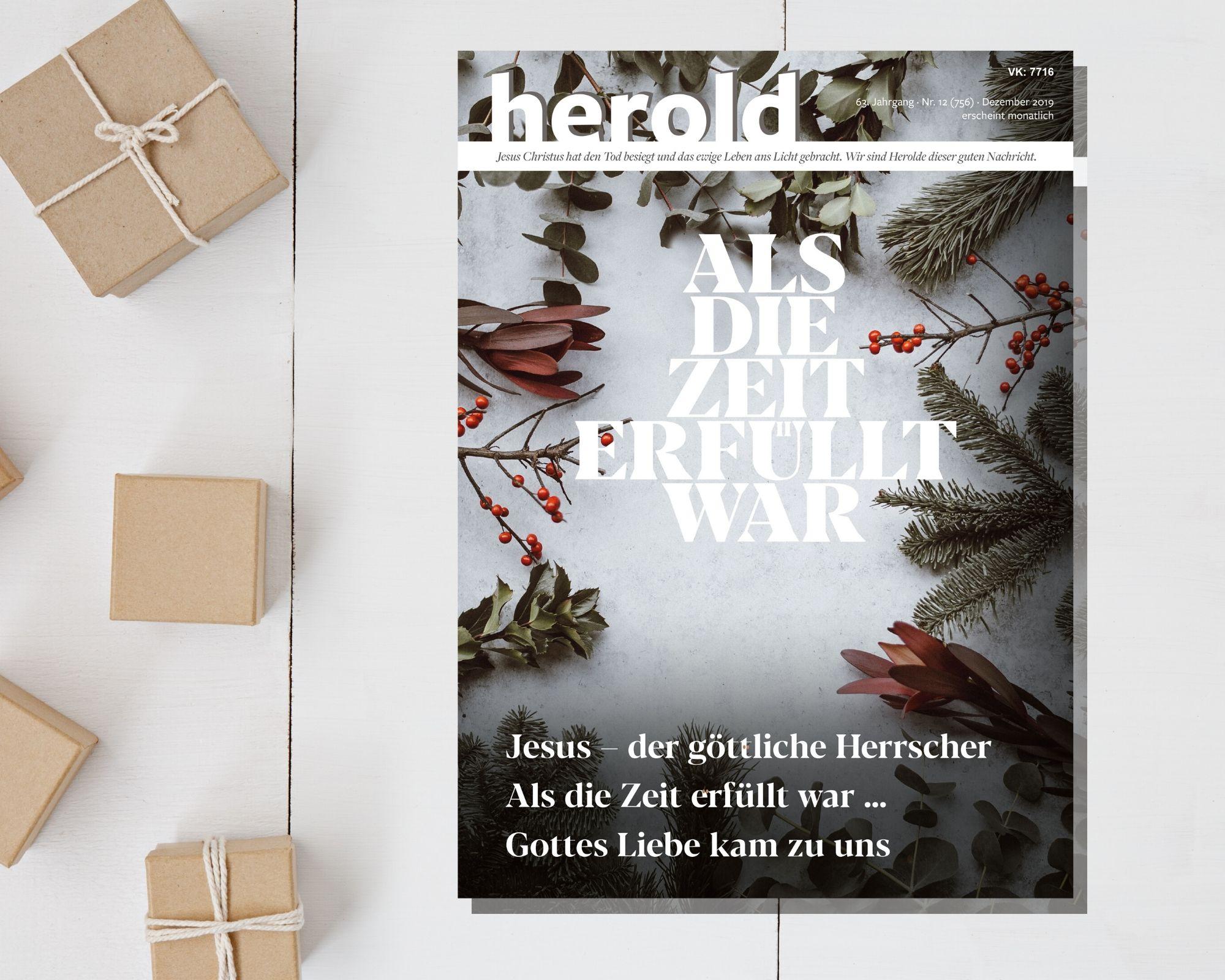 Als die Zeit erfüllt war – Herold Dezember 2019