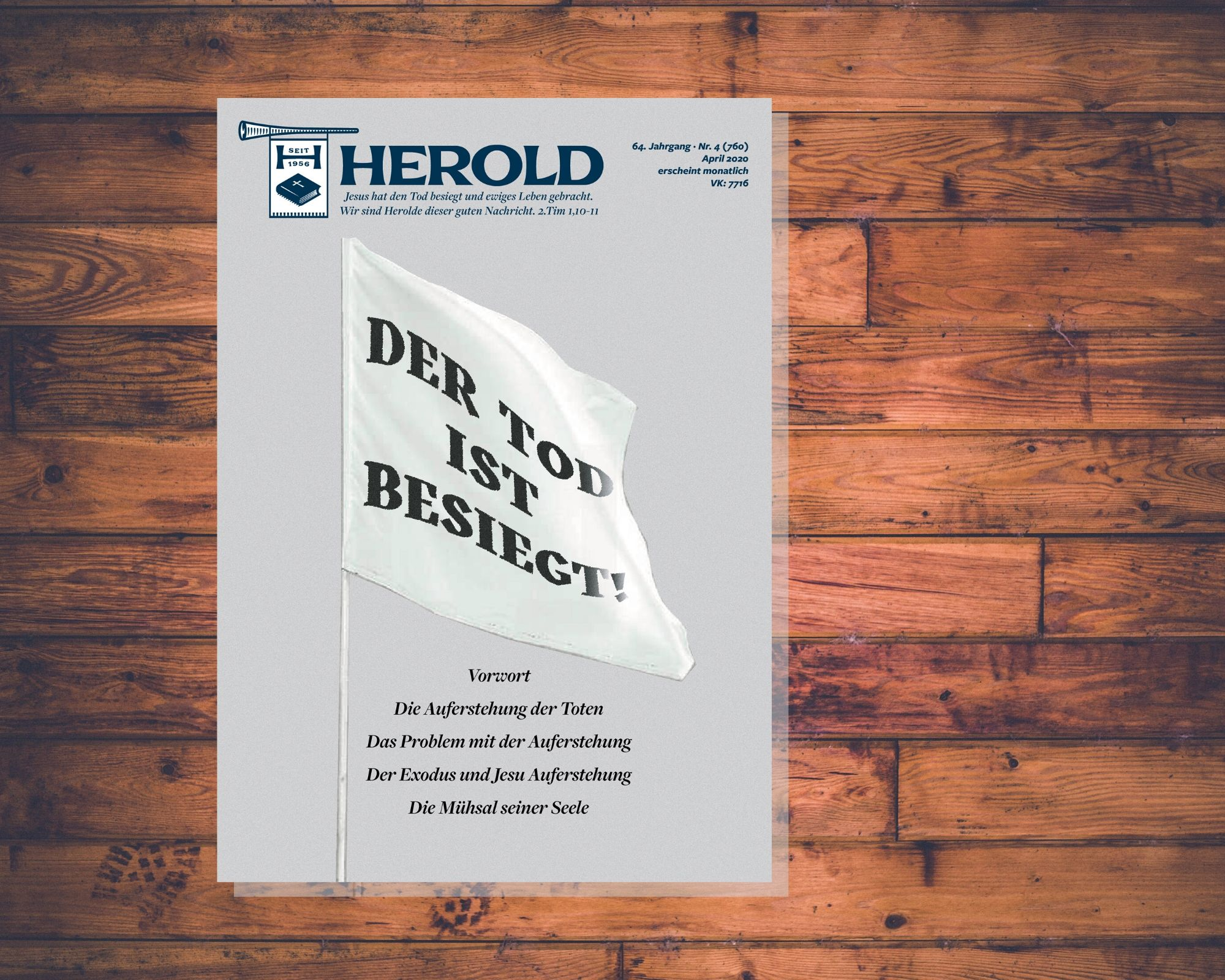 Der Tod ist besiegt – Herold April 2020