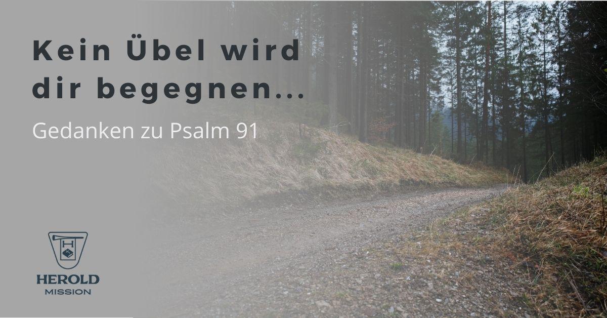 Psalm 91 – Kein Übel wird dir begegnen …