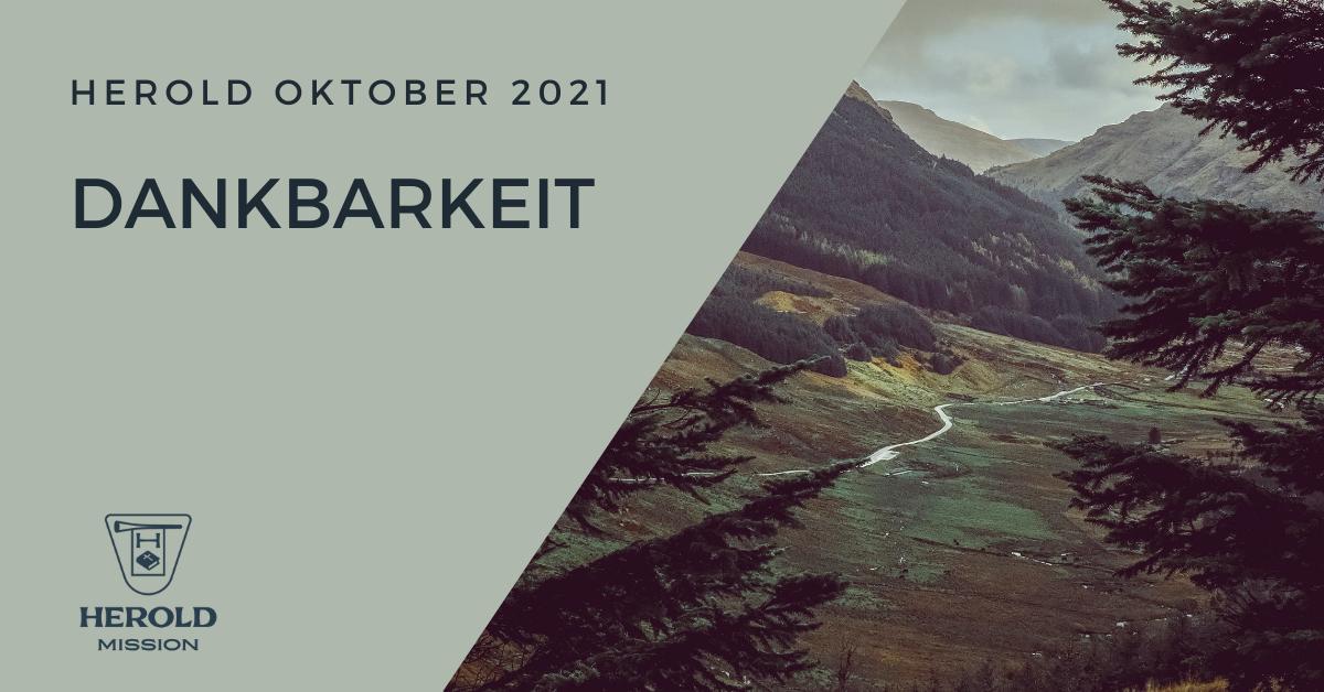 Dankbarkeit – Herold Oktober 2021
